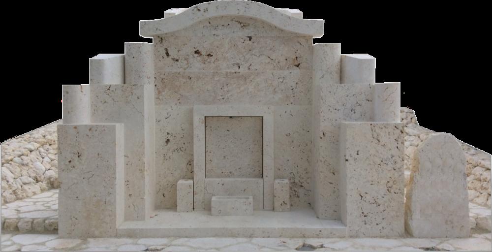 琉球石灰岩亀甲墓